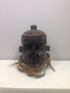 Mask Old Helmet Binji Kuba Kingdom Congo African by WorldofBacara