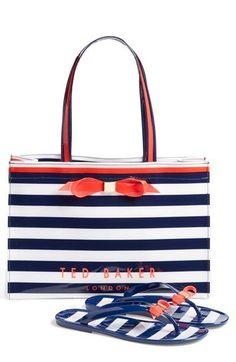 ad4393b27efbe Ted Baker London Stripe Shopper   Flip Flops