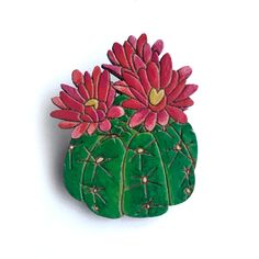 Colourful Cactus Flowers Jewellery Diy Jewelry Kit, Unique Jewelry, Opuntia Cactus, Laser Cut Jewelry, Cactus Flower, Flower Brooch, Simply Beautiful, Diy And Crafts, Etsy Shop