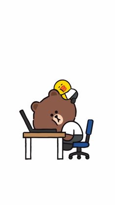 Cartoon Wallpaper Iphone, Bear Wallpaper, Cute Cartoon Wallpapers, Disney Wallpaper, Line Brown Bear, Ramadan Cards, Cony Brown, Cute Kawaii Animals, Character Wallpaper