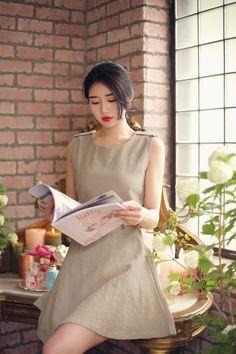 밀크코코아 감성화보 : 네이버 블로그 Yoona, Ulzzang, White Dress, Model, Pictures, Beautiful, Beauty, Park, Dresses