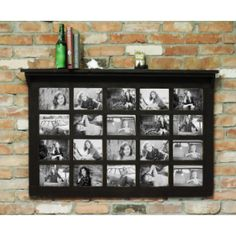 All Barn Wood Barn Window Multi-Picture Frame with Shelf