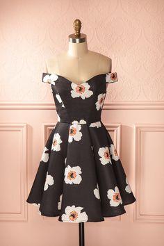 Marjane Nuit - Black big flower print dress