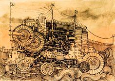 #steampunk #steam #ship #vintage #train #old