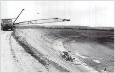 Talladega racetrack under construction.