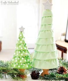 How to make a ruffled christmas tree diy christmas diy crafts christmas tree christmas crafts christmas ideas christmas diy crafts