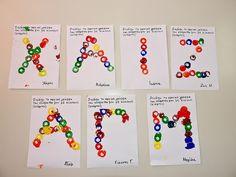 Με το βλέμμα στο νηπιαγωγείο και όχι μόνο... : Ατομικές δημιουργίες με το αρχικό γράμμα του ονόματος Name Activities, Toddler Activities, First Day Of School, Back To School, Alphabet, Handicraft, Diy And Crafts, Kindergarten, Preschool