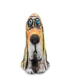 Фигурка «Спаниель» шамот KK-549      Страна производства: Россия;   Длина: 6 см;   Ширина: 8,5 см;   Высота: 11 см;   Вес: 0,28 кг;          #chamotte #ceramics #шамот #керамика #собака