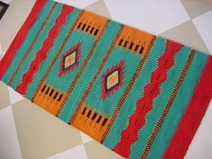 wool saddle blankets made in Montana | ... Navajo Saddle BLANKET Wool RUG Native American Indian Hand Made Old