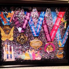 Race Medal Shadowboxes  Glass Slipper Challenge 2014