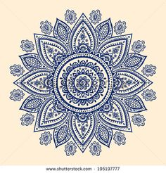 Henna flower Stock Photos