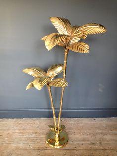 Brass palm tree floor lamp 09