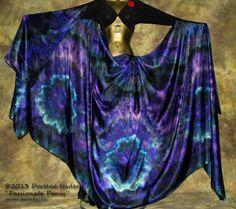 Silk Veil Belly Dance – 3.5 yard hand dyed China silk habotai – PASSIONATE PANSY - by Shibori Borealis