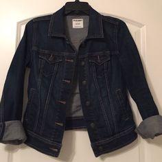 Dark wash denim jacket Old Navy dark wash denim jacket. Barely worn Old Navy Jackets & Coats Jean Jackets