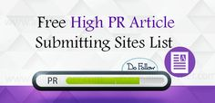 Top 5 High PR Article Submission Website for 2019 Seo Techniques, Submission, Create Yourself, Articles, Website, Top, Crop Shirt, Shirts