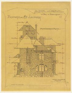 Drawing, Le Castel D'Orgeval au Parc de Beausejour, no. 7, 1904