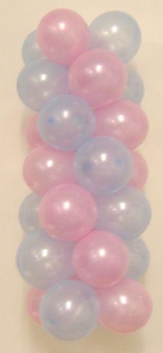 how to make balloon column