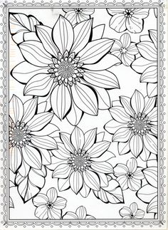 Pin By Belynda Banks On Coloring Pinterest Flower Coloring Pages