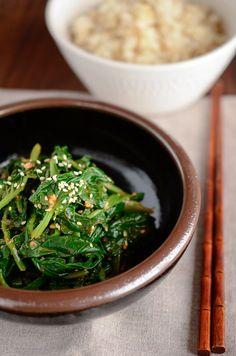 How to make Korean Spinach, Shigumchi Namool (시금치 나물)