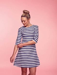 That's right _ a free dress pattern for you all to download! It's the gorgeous stripey Brigitte Dress from our...