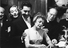 Edith Piaf marrying Jacques Pills, her first husband, in 1952 (her matron of honor was Marlene Dietrich). They divorced in 1957