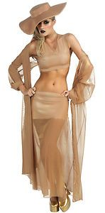 Do you want to dress up as The King of Rock 'n Roll?  Popular Diva Lady Gaga Gold Adult Costumes for Women's