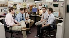 The Workaholics Guys Find a New Cubicle Mate (feat. Seth Rogen and Zac Efron)