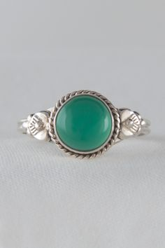 925 Silver Ring with Jade