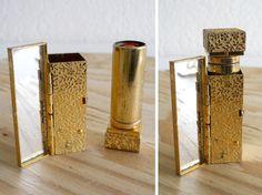 vintage Avon gold tone floral engraved by ElasVintageFinds on Etsy