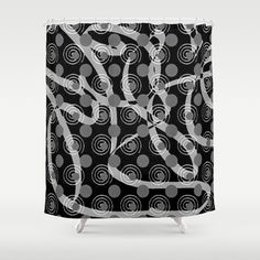 Love Laces black Shower Curtain