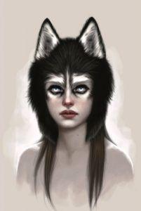 Husky Art Print by Fernanda Suarez - X-Small Foto 3d, Wolf Costume, Animal Makeup, Digital Art Gallery, Image Digital, Maquillage Halloween, Husky, Cool Halloween Costumes, Couple Halloween