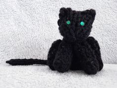 The Loom Muse Creations and Ideas: How to Loom Knit a Mini Cat