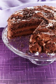 Suklaaunelmatäytekakku | K-ruoka Baking Recipes, Cake Recipes, Dessert Recipes, Pastry Cake, Healthy Treats, Vegan Desserts, I Love Food, Yummy Cakes, No Bake Cake