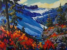 Hot & Cold 30 x 40 by jill charuk Oil