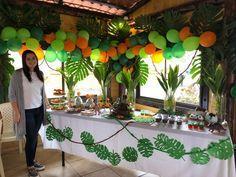 new ideas baby shower ideas safari decoration first birthdays Leo Birthday, Safari Birthday Party, 3rd Birthday Parties, Jungle Party, Baby Party, Safari Decorations, Birthday Party Decorations, Theme Bapteme, Festa Jurassic Park