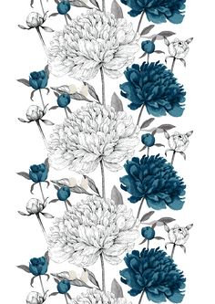 Vanha suola (petrol) - By Tanja Orsjoki Lowrider, Fabric Patterns, Print Patterns, Shabby Chic Mirror, Mirrors For Sale, Dora The Explorer, Textile Design, Marimekko, Flower Art