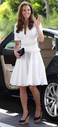 Kate Middleton's favorite wedges might get her in trouble with the queen.