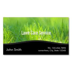 Stylish Spring Green Lawn Care Business Card