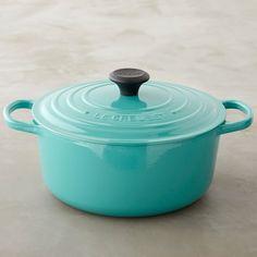 Le Creuset Signature Round Dutch Oven, Turquoise