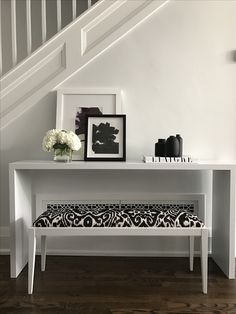 Custom bench and console table.