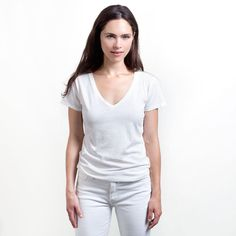 I just checked out the women's luxury tees at Everlane. $15