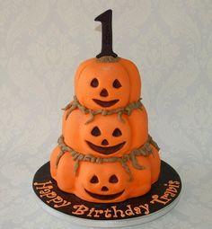 Halloween Pumpkin Cake - by Cariadscakes @ CakesDecor.com - cake decorating website