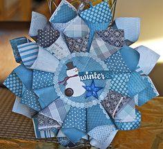 Love The Journey: Paper Cone Wreath