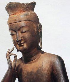 広隆寺 @京都市太秦 Plastic Art, Buddhist Art, Watercolor Drawing, Religious Art, Box Art, Asian Art, Japanese Art, Buddhism, Sculpture Art