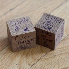 Action Dice DIY - make your own for a fun family game that everyone can play!