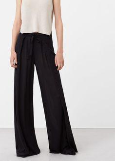 Pantalón aberturas - Pantalones de Mujer | MANGO México