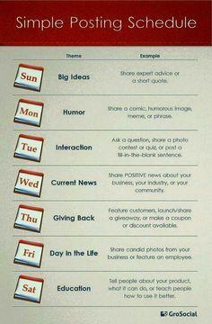 Social media content kalender ideeën