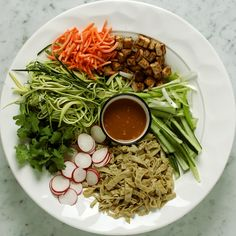 Thai Zucchini Noodle Salad with Spicy Tofu | Nancy's Cravings