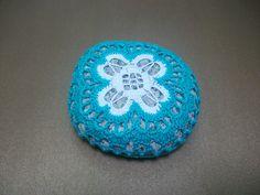 Good luck Crocheted Lace Stone, spring, summer gift, weddinggift. #handmade#