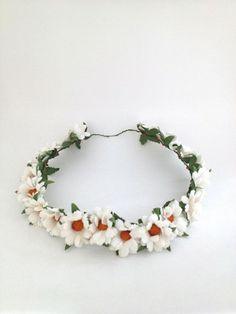 Flower Crowns (Full & Half)  Cream Daisies at Matchbox Studios